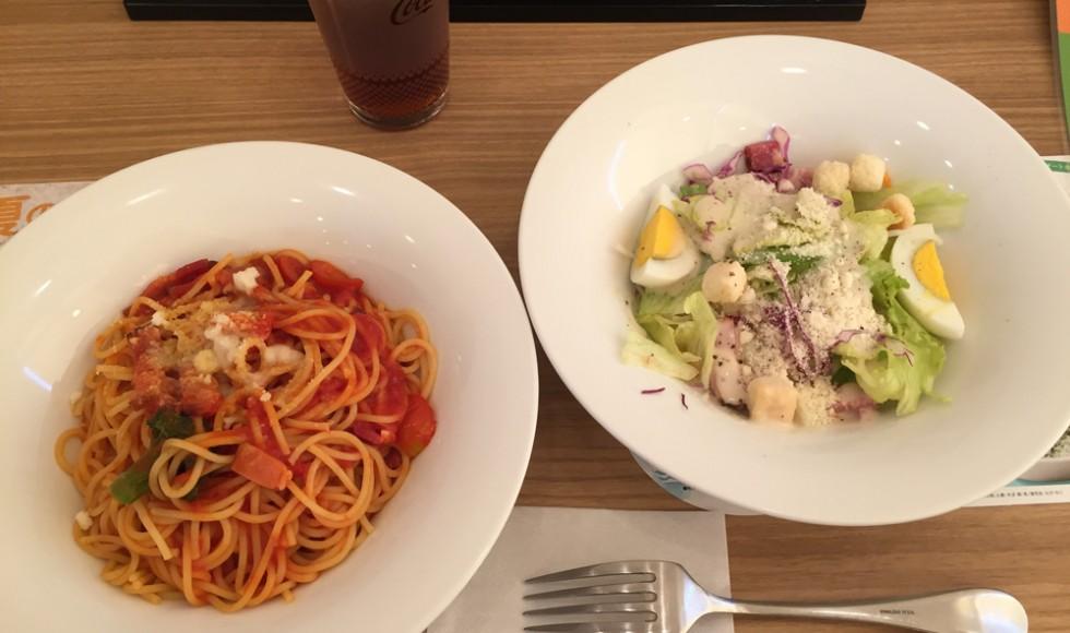 第19回 マルゲリータ「完熟トマトのパスタとシーザーサラダ ~アイスティーを添えて~」
